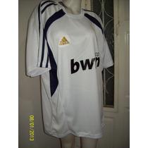 Camiseta Deportiva Blanca Con Negro En Acetato T-5