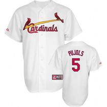 Casaca Mlb Baseball Cardinals Majestic #5 Pujols Talle M