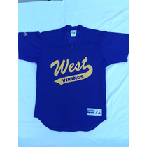 Camiseta Mlb Majestic,original,usa,west Viking #4 Talle M