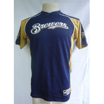 Camiseta Baseball Brewers Bordado Beisbol Mlb L Majestic