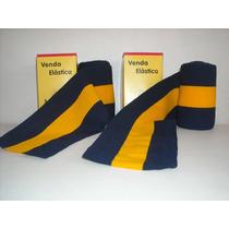 Dos Vendas Elasticas Color Azul Y Amarillo Ancho 8 Cm Nueva