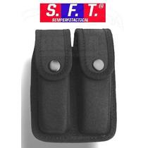 Porta Cargador Doble Para 9 Mm. Termoformado Negro De Sft®
