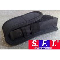 Porta Cargador Simple Para Pistola Molle Negro - Sft®