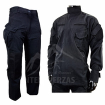 Uniforme Tactico Negro Fuerzas Especiales Cover Cop