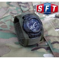 Muñequera Porta Reloj Verde Oliva De Semper Fi Tactical®