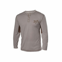Remera Gloomis Technical Henley Ls Color Khaki Talle L