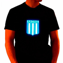 Remera C/luces Led Racing Club Avellaneda Activa Con Sonido