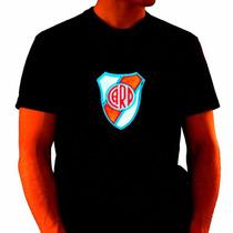 Remera C/luces Led River Plate Activa Con Sonido Electro F.