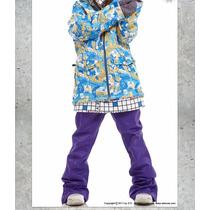 Pantalón Dama Snowboard Ski Nieve Violeta Talle M