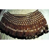 Tira Importada Perlas-monedas-odalisca Caderin Cinturon