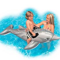 Delfin Gigante Inflable Intex Flotador Para Pileta