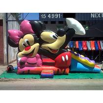 Pelotero Castillo Juego Inflable Mickey Minnie Con Tobogán