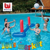 Juego De Voley Inflable C/ Red Y Pelota Pileta Bestway Intex