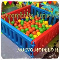 Nuevo Mini Corralito Pelotero Vegui 1x1 Plaza Blanda