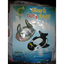 Bote Inflable Bebe Tiburon Plateado Barrilete Animal