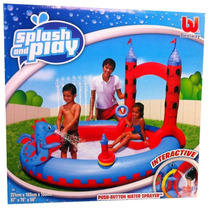 Pileta Inflable Interactiva Spray Castillo Bestway Envio S/c