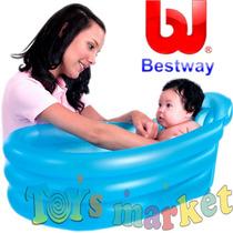 Bañera Inflable Bebe Piso Antideslizante Bañadera Bestway