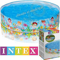 Pileta Rigida Enrollable Bebes Bebe Niños Intex 152 X 25 Cm