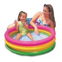 Pileta Con Piso Inflable Intex Ideal Balcon Bebe