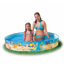 Pileta Rigida Enrollable Intex Beach Days 152 X 25 Cm Oferta