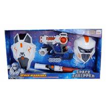 Equipo Especial Space Warriors Con Escudo Y Espada.