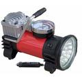 Compresor 12 Volt Alta Potencia Con Linterna 18 Leds + Bolso