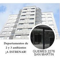 Venta Departamento San Martin A Estrenar 2 Amb 43 M2 1º Piso