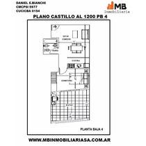 Chacarita Venta En Pozo Monoambiente Castillo Al 1200 Pb 4.