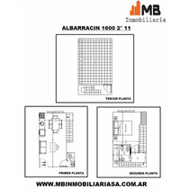 Parque Chacabuco 2 Amb. Terraza. Albarracin Al 1600 2°11