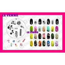 Enas Stamping Sello De Goma Decoracion Uñas B113 Le Femme