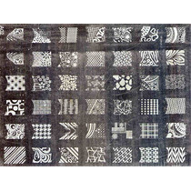 Placa G Diseños Uña Entera Deco Nail Stamp Sello Raspa Ydnis