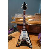 Miniaturas Coleccionables- Guitarra Jimmy Hendrix Flying V