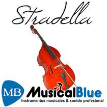 Contrabajo Stradella Mb6076 3/4 Profesional Fully Carved