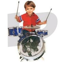 Bateria Para Niños Con Platillo Bombo Y Pedal Jazz Dum