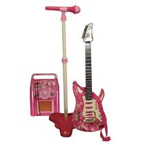 Guitarra Con Amplificador Y Microfono