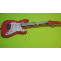 Combo Niño Guitarra Electrica Rosa Kansas 3 Mic +mini Amp