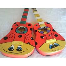 Guitarras De Juguete Pintadas A Mano. Variedad De Diseños.