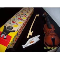 Violin De Lata Litografiado Vintage 1960 Checoslovakia