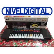 Gran Piano Musical Melodias Con Microfono Karaoke En Caja