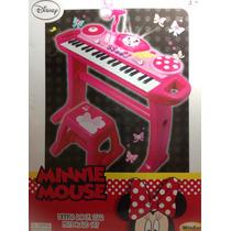 Órgano Piano Musical Con Banco Minnies Envio Sin Cargo Caba