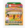 Marcadores Simball Doble Punta Con Sello X 10 Colores No Tox