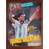 Gente 1299 14/6/90 Maradona Pumpido Menotti A Dubceck