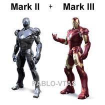 Traje Iron Man Mark 2 Y 3 (para Armar En Papercraft)