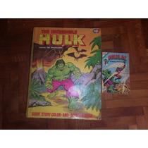 Marado Hulk-libro Gigante Para Colorear Dc. Comics 1979