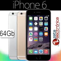 Apple Iphone 6 64gb 4.7 4g Ios8 A8 64 Bits Garantia Libre!!