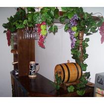 Guias De Parra, Hojas Planta Artificial Decoracion Uvas Flor