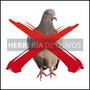 Puas Ahuyenta Palomas Espanta Pajaro Pinches Anti Aves