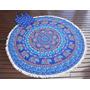 Lona Circular Estampada Mandala Turquesa