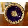 Made In Germany - Fina Porcelana Imperial De Cobalto & Oro
