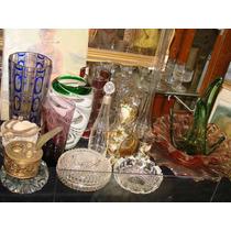 Antigua Jarra De Cristal Veneciano Grande Impecable+2copas